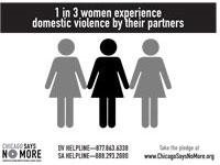 1 in 3 Women Poster - B&W